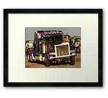 Truck 7950 Purple Framed Print