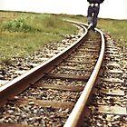 Man on Tracks by Natalie Broome