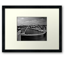 Flowing steel and water Framed Print