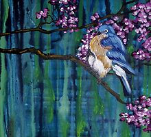 Blossoming Bluebird by Cherie Roe Dirksen