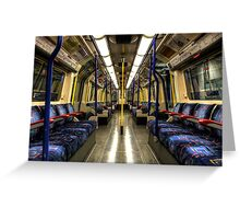 Inside Tube Train Greeting Card