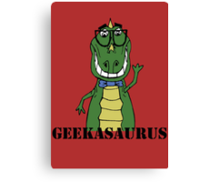 GEEKASAURUS COLOUR Canvas Print
