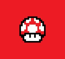 8 Bit Mushroom (Red) by MightyBytes