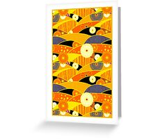 Chiyogami Tangerine & Blueberry [iPhone / iPod Case and Print] Greeting Card