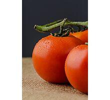 Closeup of cherry tomatoes Photographic Print