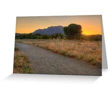 Sunset Walk Greeting Card