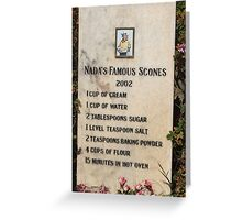 Nada's Famous Scones Greeting Card