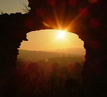 Denbigh Castle at Sunset by AnnDixon