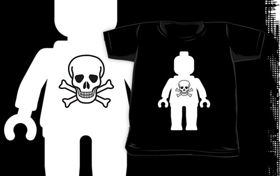 Minifig with Skull Design No.2 by Customize My Minifig by ChilleeW