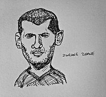Zinedine Zidane by SteveSkinner