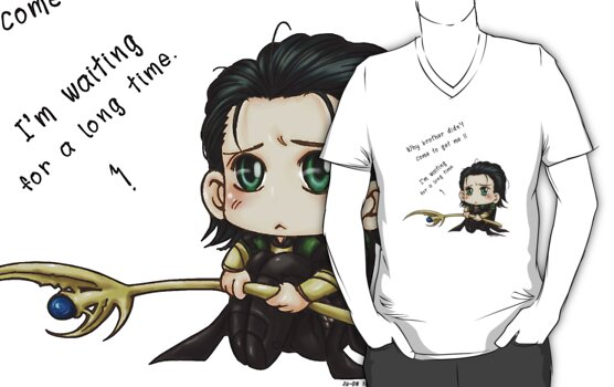 Loki Chibi-Why Thor didn't come to get me? by morigirl