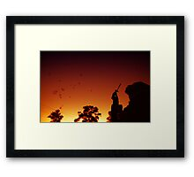 Bubbles for the night Framed Print