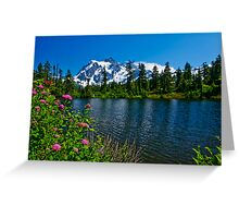 Mount Shuksan and Highwood Lake Greeting Card