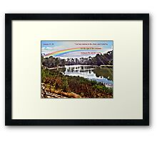 The Rainbow - Covenant - Genesis 9:13 Framed Print