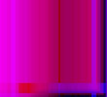 Pink Burgundy Purple Lines Abstract by Natalie Kinnear