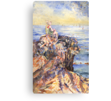 Silent Meeting at the Summit Canvas Print