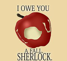 I owe you a fall, Sherlock - Iphone Case by Mhaddie