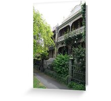 Parkville Polychromatic Terracehouses, Melbourne Greeting Card