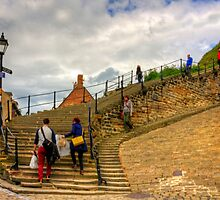 Bottom of the Whitby Steps by Tom Gomez