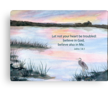 Comfort - John 14:1 Canvas Print