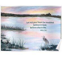 Comfort - John 14:1 Poster