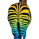 Rainbow Zebra by Jakki O