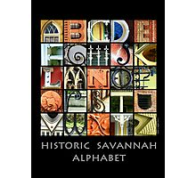 Historic Savannah Alphabet Photographic Print