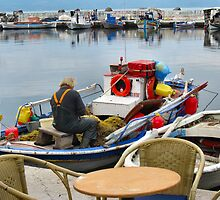 FISHERMEN AT WORK.LESBOS. 2 by ronsaunders47