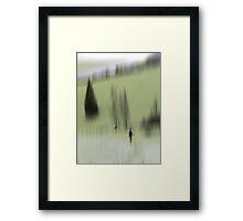 Winter Walk (green), Fischbacher Alps, Austria Framed Print