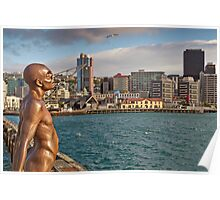 Wellington Man - Solace Of The Wind Sculpture Poster