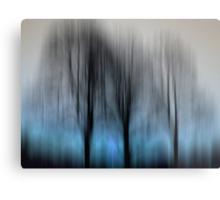 Three Trees in Motion - blue Metal Print