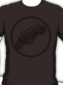 fender stylized headstock black T-Shirt