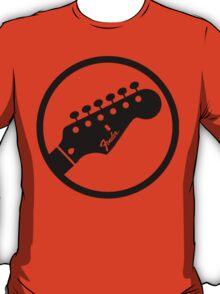 fender stylized headstock black T-Shirt
