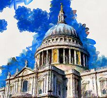 St Paul's Cathedral, London by Dennis Melling
