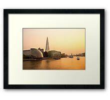 London at Dusk Framed Print