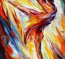 PASSION AND FIRE- OIL PAINTING BY LEONID AFREMOV by Leonid  Afremov