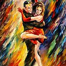 THE SUBLIME TANGO- OIL PAINTING BY LEONID AFREMOV by Leonid  Afremov