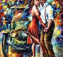 OLD TANGO - OIL PAINTING BY LEONID AFREMOV by Leonid  Afremov