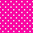 Case Hot Pink Polka Dot by Medusa81