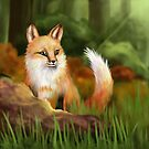 Fox in Woodland by Earth-Gnome