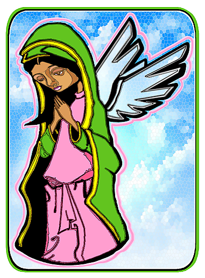 SHE WHO PRAYED FOR FORGIVENESS (STAINED GLASS) by SOL  SKETCHES™