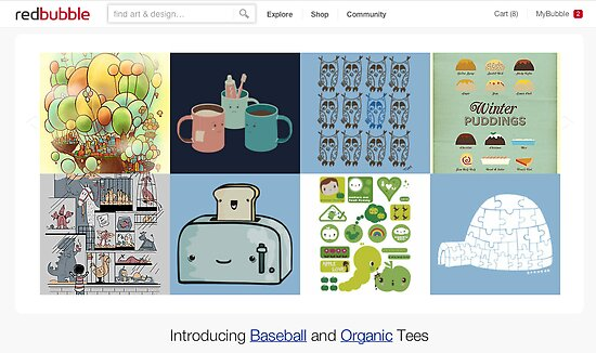 13 June 2012 by The RedBubble Homepage