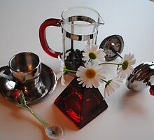 Coffee & Daisies by Sandra Fortier