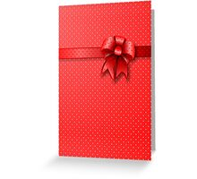 Card Red Bow Greeting Card