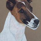 Fox Terrier Vignette by Anita Meistrell Putman