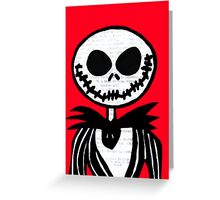 Jack on Red  Greeting Card