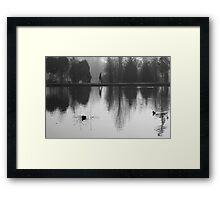 Foggy Morning, Reflection Framed Print