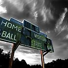 Old Baseball Scoreboard - The Diamond- Greenham by Samantha Higgs