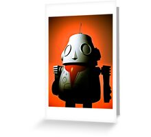 Retro Cropped Toy Robot 01 Greeting Card