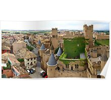 Panorama with Castle Poster